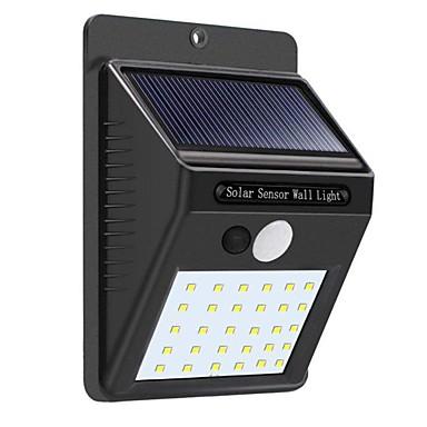 povoljno Dekoratív világítás-1pc 5 W Solarna zidna svjetlost Vodootporno / Monitor za otkrivanje pokreta Bijela 3.7 V Vanjska rasvjeta / Dvorište 30 LED zrnca