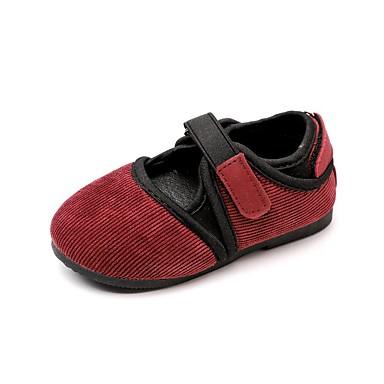 voordelige Babyschoenentjes-Meisjes Comfortabel Katoen Platte schoenen Peuter (9m-4ys) / Little Kids (4-7ys) Koffie / Roze / Wijn Lente