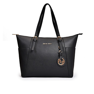 Women s Bags PU(Polyurethane) Tote Zipper Solid Color Black   Brown   Camel 72f4ab14216ab