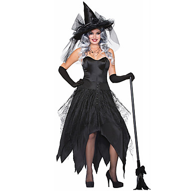 a25afc7e057 Witch Dress Cosplay Costume Hat Adults' Women's Dresses Halloween ...