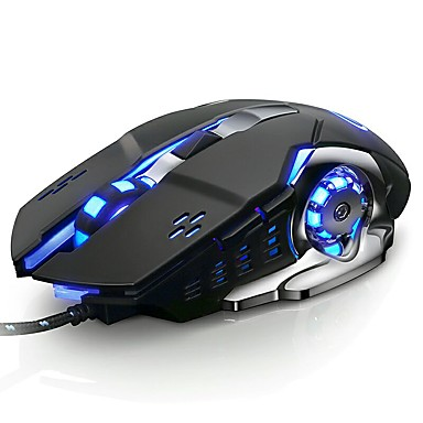 cd8848a9f08 LITBest V5 Wired USB Optical Gaming Mouse / Silent Mouse Led Breathing Light  3200 dpi 6