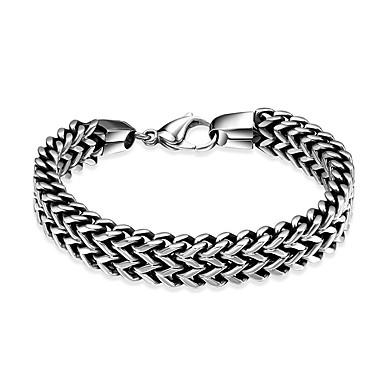 voordelige Herensieraden-Heren Armband Dikke ketting Hip-hop Roestvrij staal Armband sieraden Grijs Voor Verjaardag Dagelijks