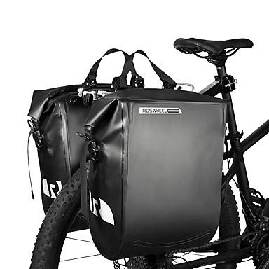 abordables Sacoches de Vélo-ROSWHEEL 20 L Sac de Porte-Bagage / Double Sacoche de Vélo Sacs de Porte-Bagage Etanche Pluie Etanche Résistant à l'humidité Sac de Vélo PVC Sac de Cyclisme Sacoche de Vélo Cyclisme Activités