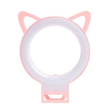 uutuus söpö kissa korvan puhelin johti selfie rengas syttyy flash valokuvaus-kameran video yö lamppu iphone ipad pc