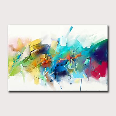 voordelige Olieverfschilderijen-Hang-geschilderd olieverfschilderij Handgeschilderde - Abstract Feest Klassiek Modern Zonder Inner Frame