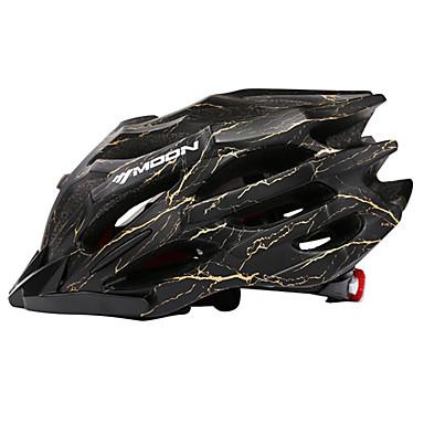 abordables Casques de Cyclisme-MOON Adulte Casque de vélo 27 Aération CE Résistant aux impacts Intégralement moulé Poids léger EPS PC Des sports Vélo tout terrain / VTT Cyclisme sur Route Cyclisme / Vélo - Noir Jaune Rouge Homme