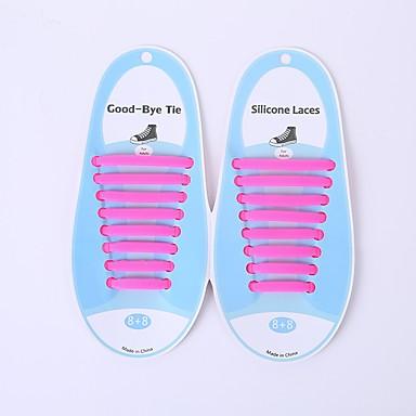 baratos Cadarços-1 Peça silica Gel Cadarços Unisexo Primavera Casual Verde / Azul / Rosa claro