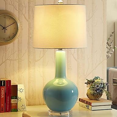 Enkel Dekorativ Bordlampe Til Soverom Keramikk 220V