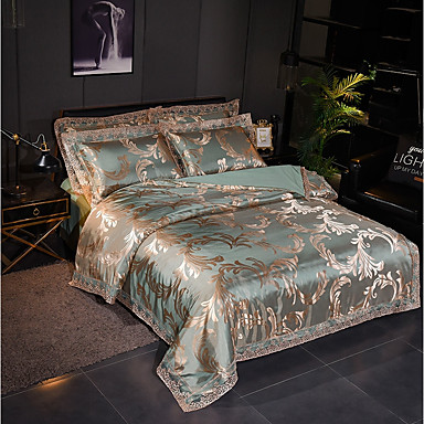 cheap Home Textiles-Duvet Cover Sets Luxury Polyster Jacquard 4 PieceBedding Sets
