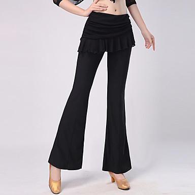 Für den Ballsaal Unten Damen Training / Leistung Polyester Horizontal gerüscht Normal Hosen