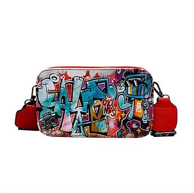 女性用 バッグ PU ショルダーバッグ ジッパー ルビーレッド / ピンク / イエロー