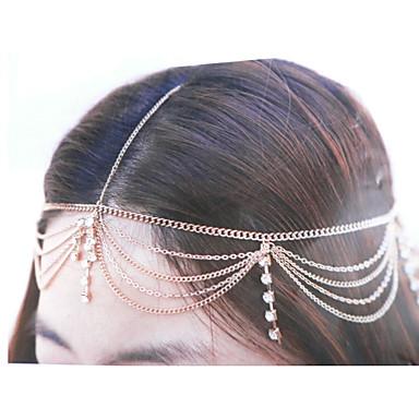 baratos Bijuteria de Mulher-Mulheres Vintage Anos 20 Gatsby Zircônia Cubica Liga,Zircônia Cubica Decoração de Cabelo-Multi Camadas