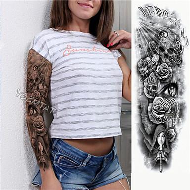 1 pcs Tatuaże tymczasowe Przyjazne dla środowiska / Jednorazowy Korpus / Ramię / Noga Papier Karty Naklejki z tatuażem