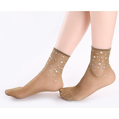 abordables Accessoires pour Chaussures-1 paire Femme Chaussettes Standard Couleur Pleine / Points Polka Soulage l'Anxiété Sexy Nylon EU36-EU46