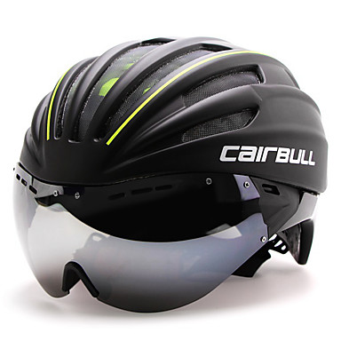 cheap Bike Helmets-CAIRBULL Adults' Bike Helmet with Goggle Aero Helmet 28 Vents CE EN 1077 Impact Resistant Integrally-molded Ventilation EPS PC Sports Road Cycling - Red Green Blue Men's Women's Unisex / Insect Net