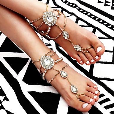 Mulheres Bijuteria de Corpo 22 cm Corrente para Perna / jóias pés Dourado / Prata Liga Jóias de fantasia Para Presente / Para Noite / Festival verão