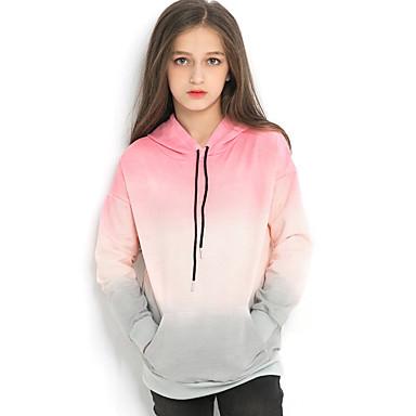 cd01dcf12 Kids Girls' Street chic Color Block Long Sleeve Polyester Hoodie &  Sweatshirt Blushing Pink