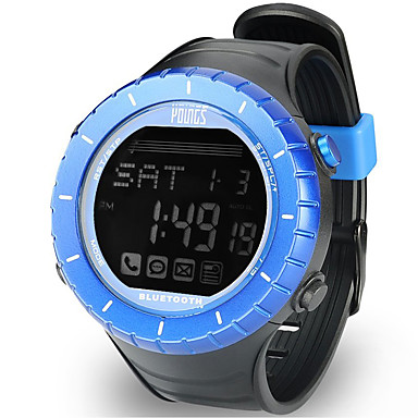 baratos Relógios Senhora-Mulheres Relógio Esportivo Ao ar Livre Fashion Preta Borracha Japanês Digital Azul Impermeável Smart Bluetooth 100 m 1conjunto Digital Um ano Ciclo de Vida da Bateria / LCD / Panasonic CR2032