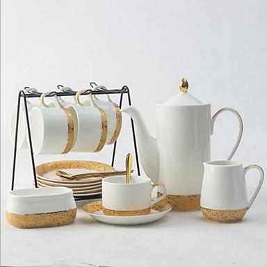 Ceramica Creativo 15pcs Bollitore Per Caffè Tazza #07169045 Buono Per L'Energia E La Milza