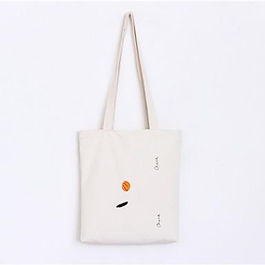 abordables Sacs-Femme Sacs Toile Cabas Motif / Impression Fruit Blanc