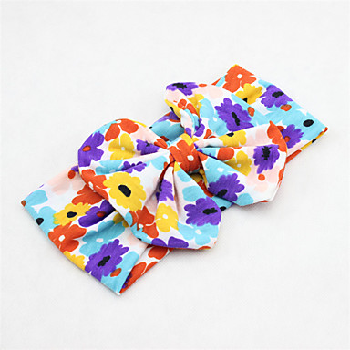 cheap Kids' Accessories-Toddler Girls' Basic / Sweet Sun Flower Floral Rayon Hair Accessories Pink / Navy Blue / Rainbow One-Size