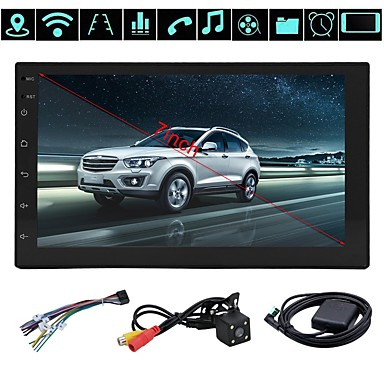 cheap Car DVD Players-Factory OEM YYD-7010G 7 inch 2 DIN Android 8.1 In-Dash Car DVD Player GPS / WiFi / Quad Core for universal Audio / GPS / AV out Support AVI / MOV / WMV MP3 / WAV / AWB JPEG / GIF / BMP