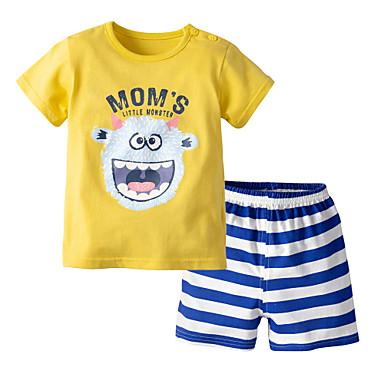 cf957a8dc07a Χαμηλού Κόστους Μωρουδιακά Ρούχα Για Αγόρια-Μωρό Αγορίστικα Καθημερινό /  Βασικό Στάμπα Αμάνικο Κανονικό Κανονικό