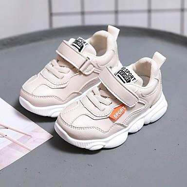 voordelige Babyschoenentjes-Jongens Comfortabel / Eerste schoentjes Imitatieleer Sportschoenen Zuigelingen (0-9m) / Peuter (9m-4ys) Wandelen Wit / Zwart / Beige Lente