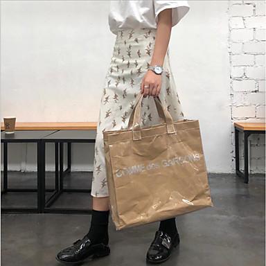 저렴한 클리어 백-여성용 지퍼 토트백 방수 PVC 카키