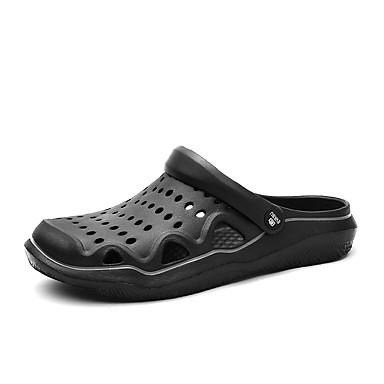 Miesten Comfort-kengät PU Kevät kesä Vapaa-aika Puukengät Hengittävä Color Block Musta / Tumman sininen / Harmaa