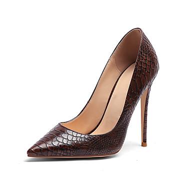 povoljno Ženske cipele-Žene Koža Proljeće ljeto Posao Cipele na petu Stiletto potpetica Krakova Toe Braon / Light Pink / Tamno smeđa