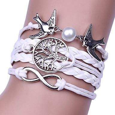 voordelige Herensieraden-Heren Dames Wikkelarmbanden Gevlochten Goedkoop Hip-hop Rips Armband sieraden Wit Voor Lahja Dagelijks