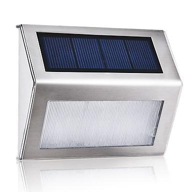 1pc 1 W Solar-Wandleuchte Wasserfest / Solar / Dekorativ Warmes Weiß / Weiß 2 V Außenbeleuchtung / Hof / Garten 3 LED-Perlen