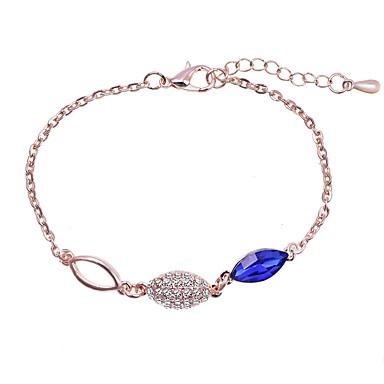 baratos Pulseira de Corrente-Mulheres Pulseira de Corrente Clássico Estiloso Simples Básico Material ecológico Pulseira de jóias Branco / Azul Para Diário Formal Festival
