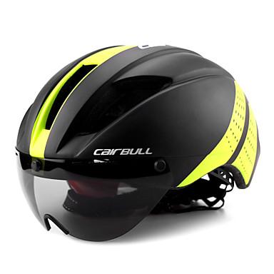 cheap Bike Helmets-CAIRBULL Adults Bike Helmet with Goggle Aero Helmet 11 Vents CE EN 1077 Impact Resistant, Lightweight, Ventilation EPS, PC Sports Mountain Bike / MTB / Road Cycling / Riding - Yellow / Black / Black
