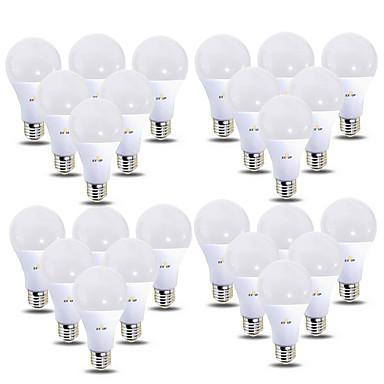 abordables Ampoules électriques-EXUP® 24pcs 12 W Ampoules Globe LED 1180 lm B22 E26 / E27 28 Perles LED SMD 2835 220-240 V 110-130 V