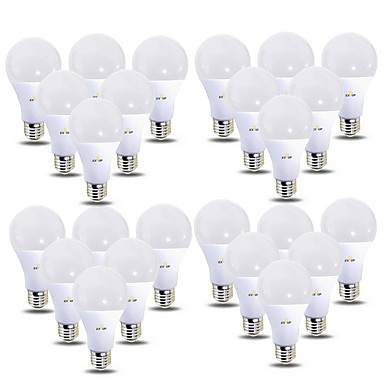 billige Elpærer-EXUP® 24pcs 12 W LED-globepærer 1180 lm B22 E26 / E27 28 LED perler SMD 2835 220-240 V 110-130 V