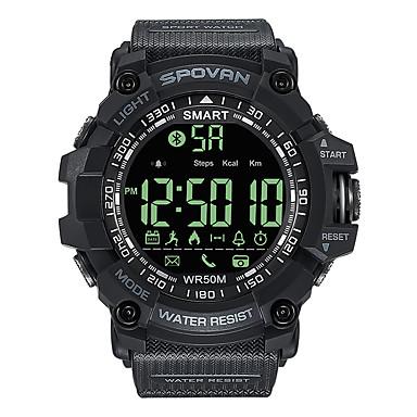 baratos Relógios Senhora-Spovan Casal Relogio digital Digital Preta 50 m Impermeável Bluetooth Calendário Digital Fashion - Preto Um ano Ciclo de Vida da Bateria