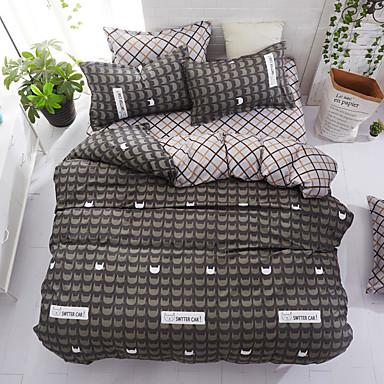 e8767b55 Sengesett Blomstret / Luksus / Moderne Polyester Trykket 4 delerBedding Sets