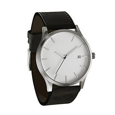 c9436df6fb16 Pareja Reloj de Pulsera Cuarzo Piel Negro   Marrón 30 m Calendario  Analógico Casual Moda - Negro Marrón Perla Un año Vida de la Batería