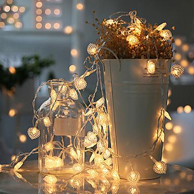 3m 20 הוביל הוביל בצורת אורות מחרוזת אורות מהבהבים אורות קטנים בחדר אורות דקורטיביים יצירתיים חדר השינה המעונות רומנטית
