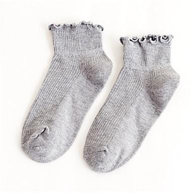 abordables Accessoires pour Chaussures-Femme Chaussettes Couleur Pleine Leg Shaping Coton EU36-EU42