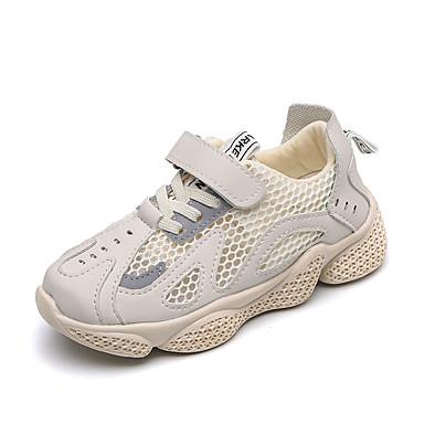 voordelige Babyschoenentjes-Jongens / Meisjes Comfortabel Netstof / PU Sneakers Peuter (9m-4ys) / Little Kids (4-7ys) / Big Kids (7jaar +) Wandelen Zwart / Beige Lente / Rubber