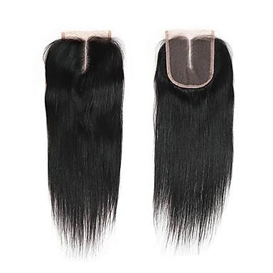 billige Parykker af ægte menneskerhår-1 Bundle Brasiliansk hår Lige Jomfruhår Remy Menneskehår Menneskehår, Bølget Hårforlængelse af menneskehår 8-20inch Naturlig Farve Menneskehår Vævninger Nyfødt Vandfald Nuttet Menneskehår Extensions