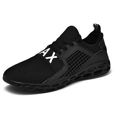 בגדי ריקוד גברים אור סוליות רשת קיץ ספורטיבי / יום יומי נעלי אתלטיקה ריצה / הליכה נושם שחור / אדום / כחול