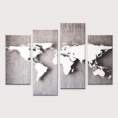 abordables Toiles-Imprimé Impressions sur toile roulées - Moderne Plans Moderne Quatre Panneaux Art Prints
