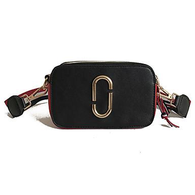 da1c60b51e1 Women s Bags PU(Polyurethane) Crossbody Bag Buttons Solid Color White    Black   Red