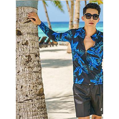 Miesten Skin-tyyppinen märkäpuku Sukelluspuvut Pidä lämpimänä UV-aurinkosuojaus Full Body Etuvetoketju 3-osainen - Uinti Sukellus Vesiurheilu Patchwork Syksy Kevät Kesä / Elastinen