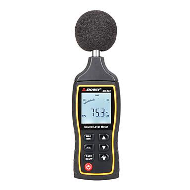 voordelige Test-, meet- & inspectieapparatuur-sndway lcd digitale geluidsweergave niveaumeter nauwkeurigheid digitale geluidsniveaumeter backlight noise tester sw-523