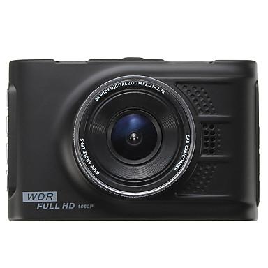 billige Bil-DVR-1080p HD Bil DVR 120 grader Bred vinkel 3 tommers LED Dash Cam med GPS / Night Vision / G-Sensor Bilopptaker